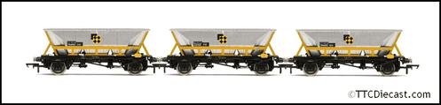 HORNBY R60065 HAA Hopper Wagons, Three Pack, BR Coal Sector - Era 8